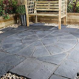 Graphite Minster Paving circle squaring off pack