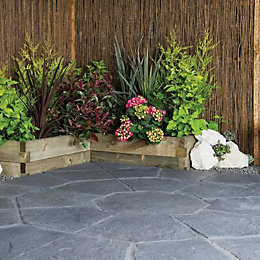 Graphite Minster Paving Patio Pack (L)2.3 (W)2.3m Pack