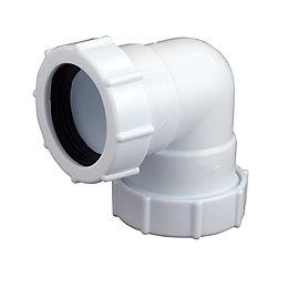 Floplast Compression Universal Waste Bend (Dia)40mm, White