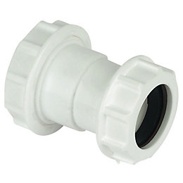 Floplast Compression Universal Waste Reducer (Dia)40mm, White