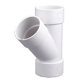 Floplast ABS Solvent Weld Waste Branch (Dia)32mm, White