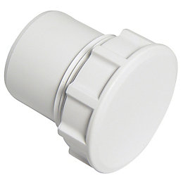 Floplast ABS Solvent Weld Waste Access Plug (Dia)40mm,