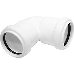 Floplast Push Fit Waste Knuckle Bend (Dia)40mm, White