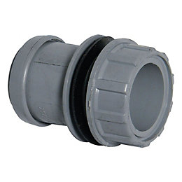 Floplast Push Fit Waste Tank Connector (Dia)32mm, Grey