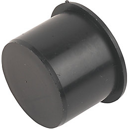 Floplast Push Fit Waste Access Plug (Dia)40mm, Black