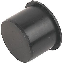 Floplast Push Fit Waste Access Plug (Dia)40mm, Black