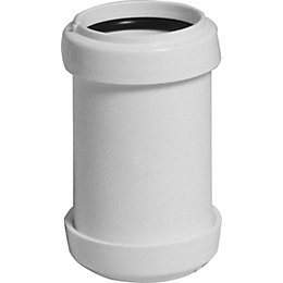 Floplast Push Fit Waste Straight Coupler (Dia)40mm, White