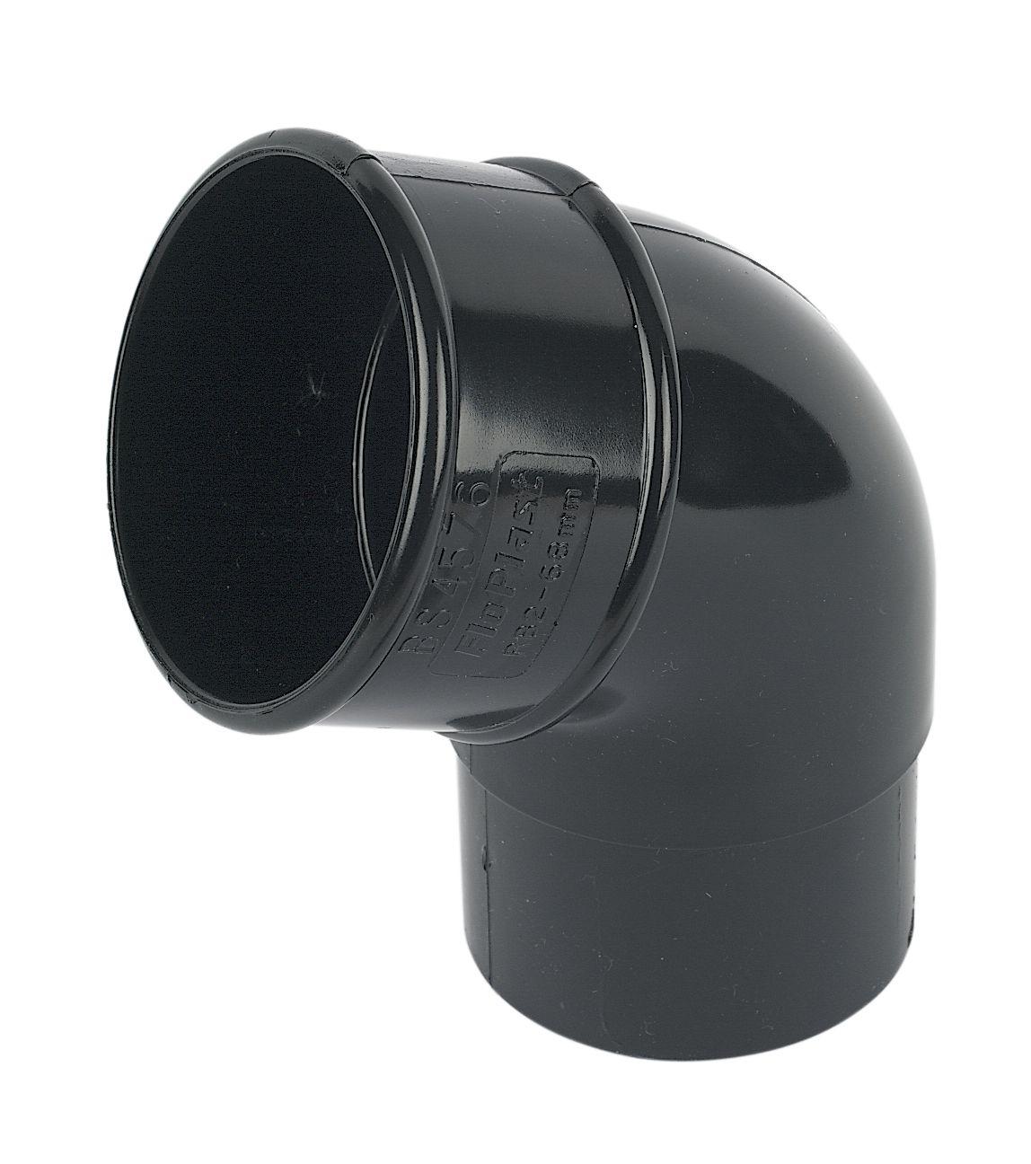 68mm Round Black Offset Bend