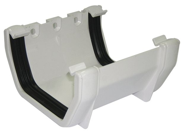 Floplast Square Gutter Union Bracket W 114 Mm White