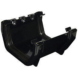 Floplast Square Gutter Union Bracket (W)114 mm, Black