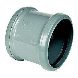 Floplast Ring Seal Soil Coupling (Dia)110mm, Grey