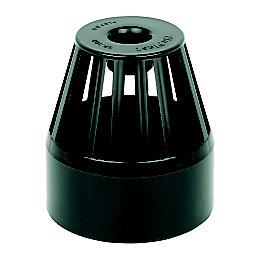 Floplast Ring Seal Soil Vent Terminal (Dia)110mm, Black