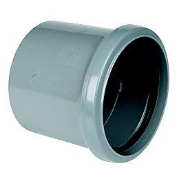FloPlast Ring Seal Soil Coupling (Dia)110mm, Grey