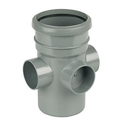 FloPlast Ring Seal Soil Vent terminal (Dia)110mm, Grey