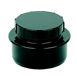 Floplast Ring Seal Soil Access Cap (Dia)110mm, Black