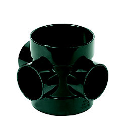 Floplast Ring Seal Soil Boss Pipe (Dia)110mm, Black