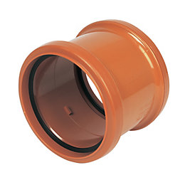 Floplast Underground Drainage Pipe Coupling (Dia)110mm, Terracotta