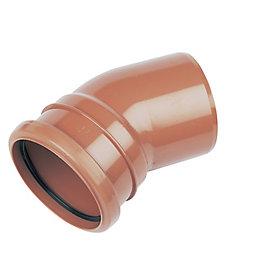 FloPlast Underground Drainage Single socket bend (Dia)110mm,
