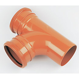 Floplast Underground Drainage Junction (Dia)110mm, Terracotta
