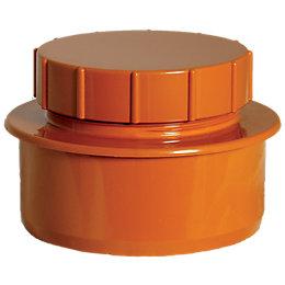 FloPlast Underground Drainage Access cap (Dia)110mm, Terracotta