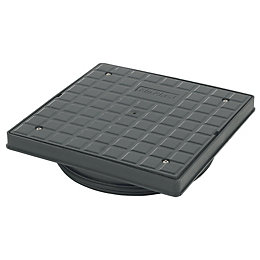 FloPlast Underground Drainage Square screw down cover (Dia)340mm,