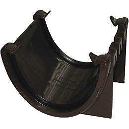 Floplast Hi-Cap Gutter Union Bracket (Dia)115 mm, Brown