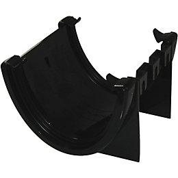 Floplast Hi-Cap Gutter Union Bracket (Dia)115 mm, Black