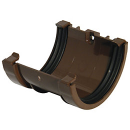 Floplast Miniflo Gutter Union Bracket (Dia)76 mm, Brown