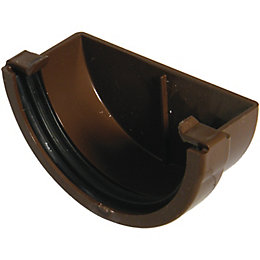 Floplast Miniflo Gutter Stop End (Dia)76 mm, Brown
