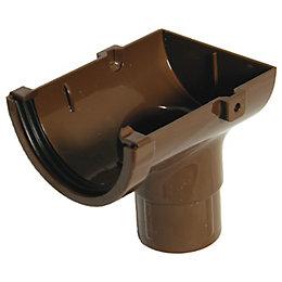 Floplast Miniflo Gutter Stop End Outlet (Dia)76 mm,