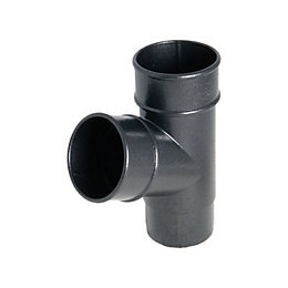 FloPlast Push fit PVC Waste downpipe branch (Dia)68mm