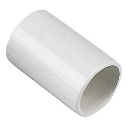 Floplast Overflow Waste Straight Coupling (Dia)21.5mm, White