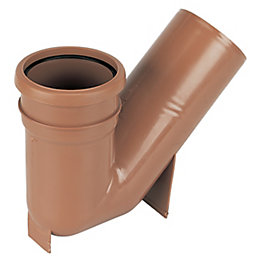 Floplast Underground Drainage Gully Trap (Dia)110mm, Terracotta