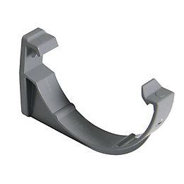 FloPlast Miniflo Gutter fascia bracket (Dia)76mm, Grey of