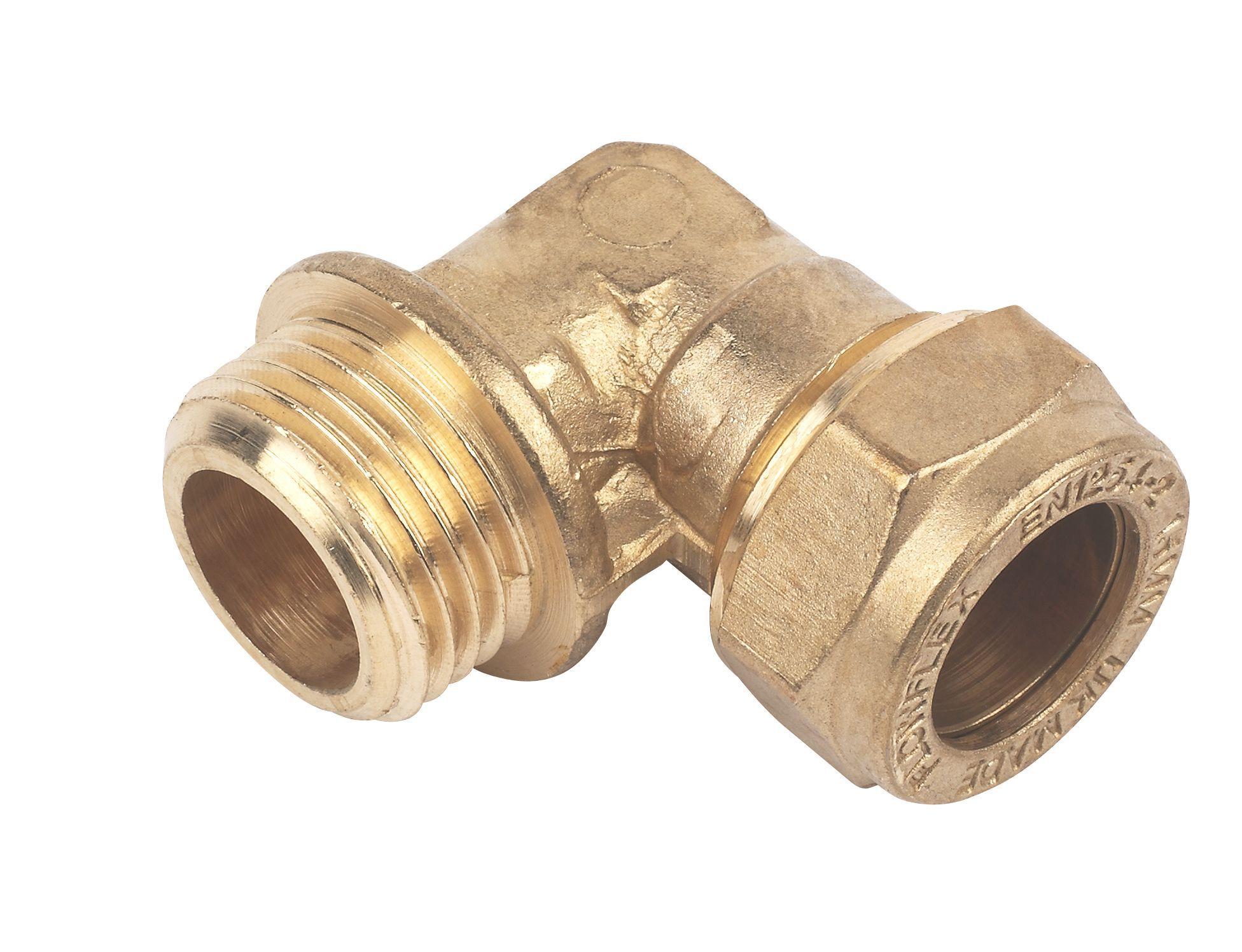Plumbsure Compression Elbow Dia 15mm Departments