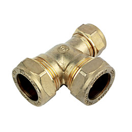 Plumbsure Compression Reduced Tee (Dia)22mm