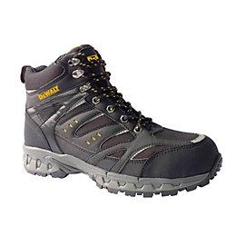 DeWalt Black Hiker Boots, Size 8
