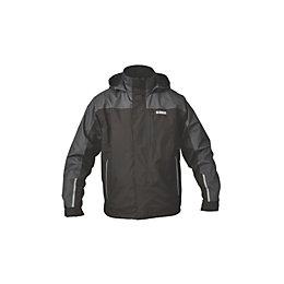 DeWalt Hybrid Black Waterproof Jacket Extra large