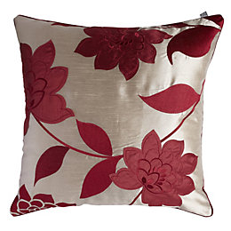 Chartwell Annabel Floral Cream & Crimson Red Cushion