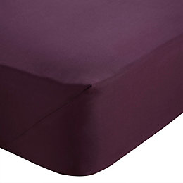 Chartwell Plum King Size Fitted Sheet