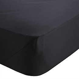 Chartwell Black Double Fitted Sheet