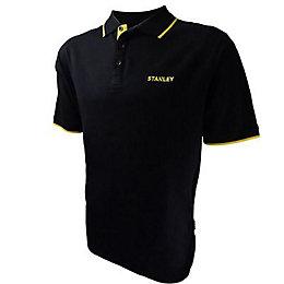 Stanley Black Texas Polo Shirt Large