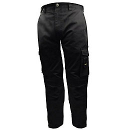 "Stanley Phoenix Black Work Trousers W34"" L31"""