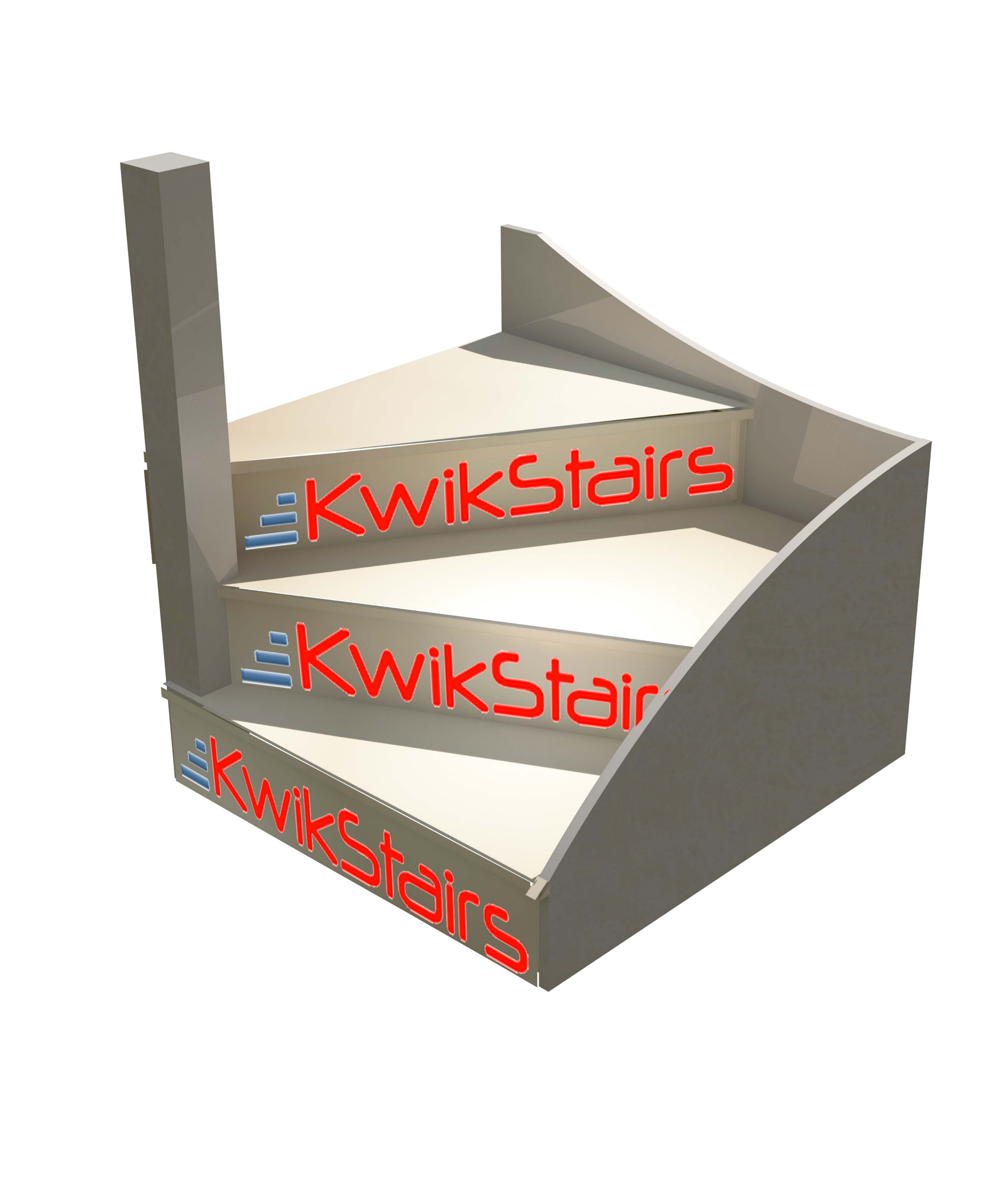 Different Types Of Staircases: KWikstairs Left-Hand Winder Staircase Pack (W)900mm