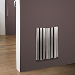 Eda Vertical Radiator Brushed (H)500 mm (W)490 mm