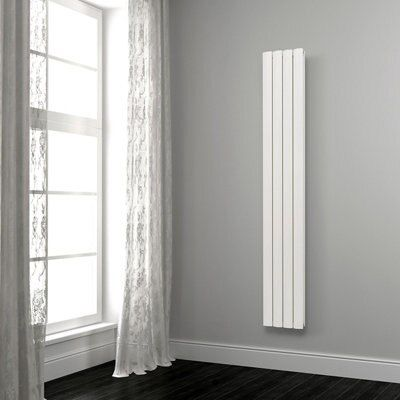 Opague Vertical Radiator White (H)1800 mm (W)345 mm
