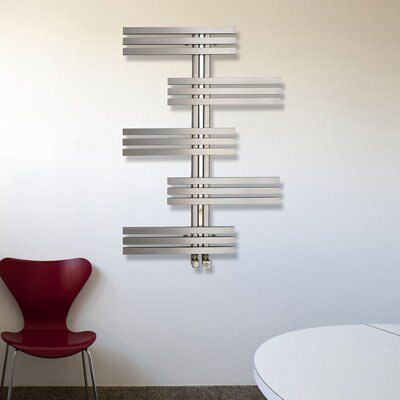 Parallel Vertical Radiator Brushed (H)1000 mm (W)700 mm