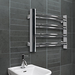 Acute Mirror Chrome Towel Radiator (H)420mm (W)600mm