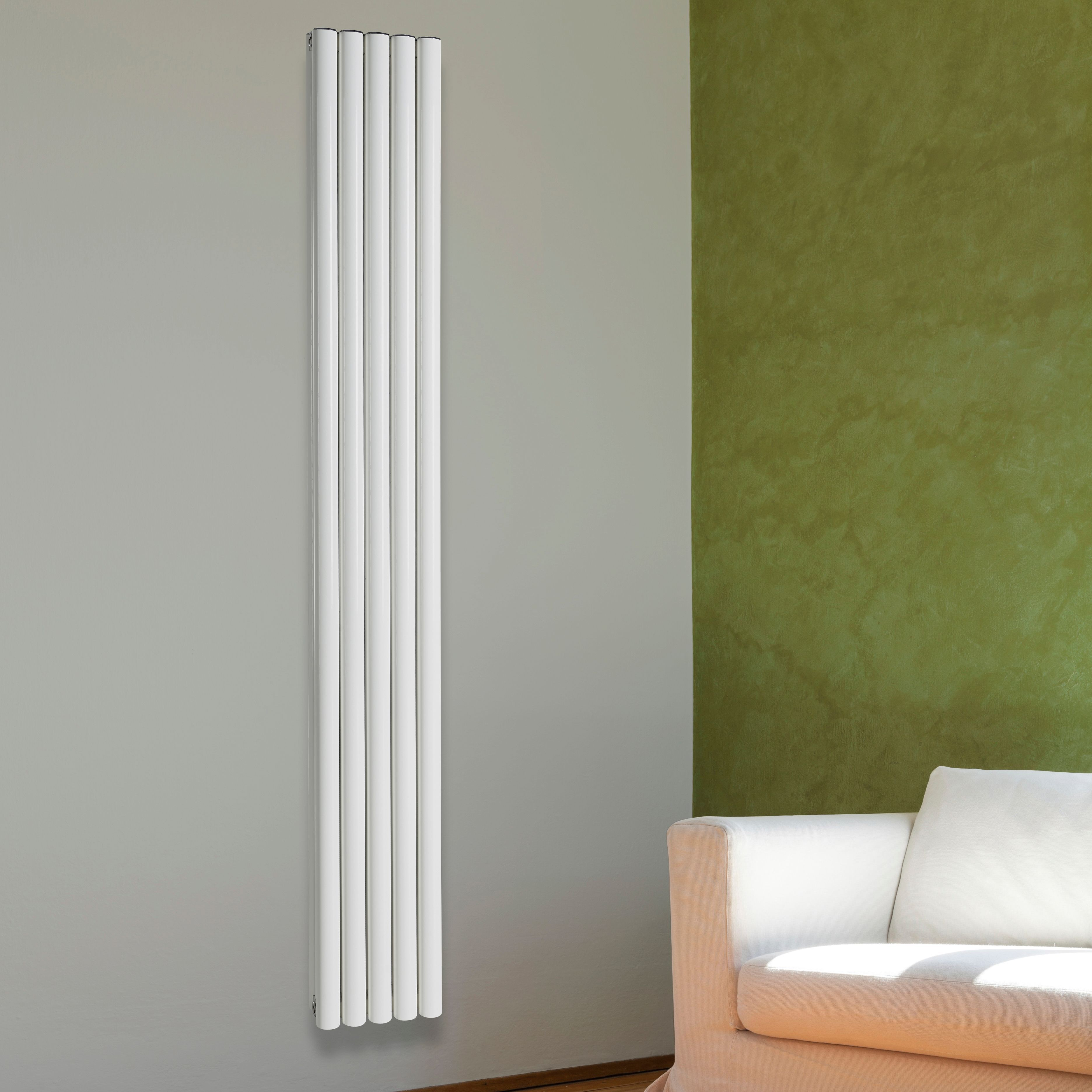 Chord Vertical Radiator White (H)1800 mm (W)495 mm