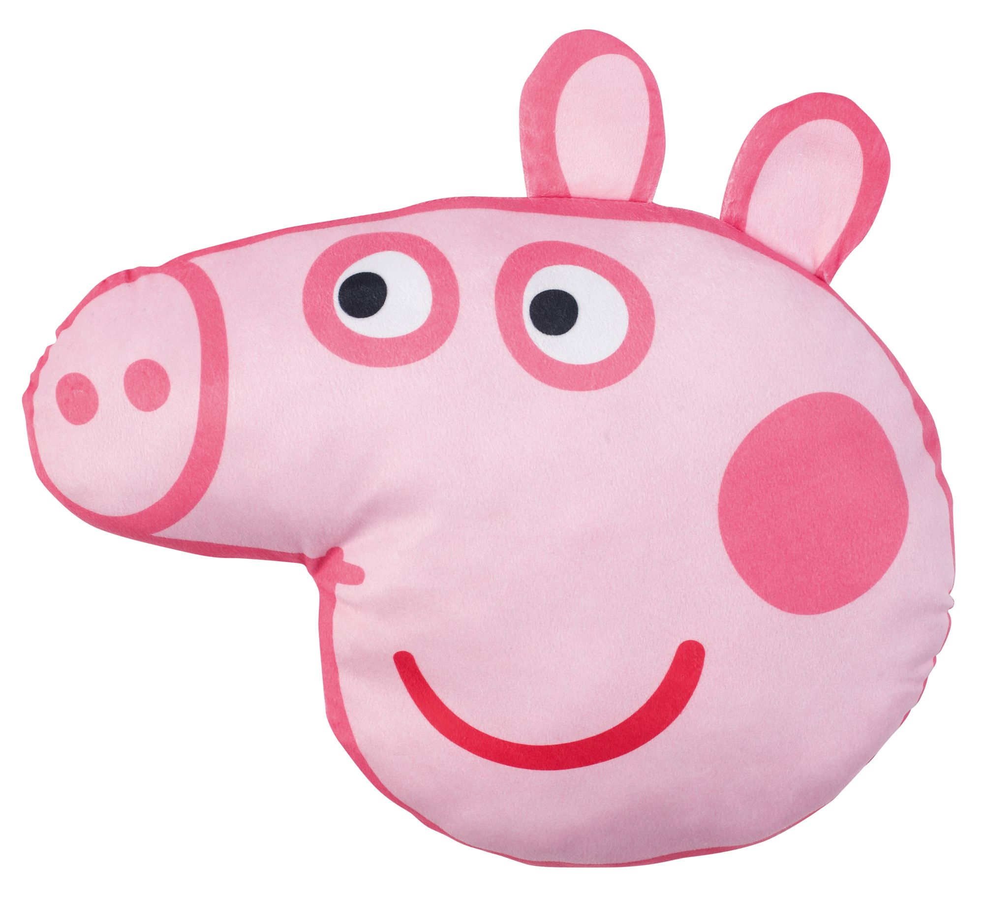 Peppa Pig Peppa Pig Head Pink Amp White Cushion